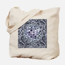Optical Illusion Sphere - Monochrome Tote Bag