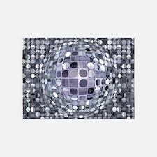 Optical Illusion Sphere - Monochrom 5'x7'Area Rug