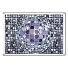 Optical Illusion Sphere - Monochrome Banner