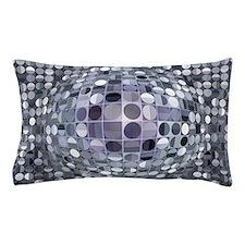 Optical Illusion Sphere - Monochrome Pillow Case