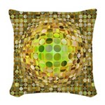 Optical Illusion Sphere - Yell Woven Throw Pillow