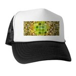 Optical Illusion Sphere - Yellow Trucker Hat