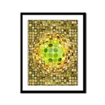 Optical Illusion Sphere - Yello Framed Panel Print
