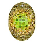 Optical Illusion Sphere - Yellow Ornament (Oval)