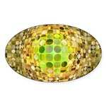 Optical Illusion Sphere - Yellow Sticker (Oval)