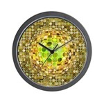 Optical Illusion Sphere - Yellow Wall Clock