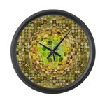 Optical Illusion Sphere - Yellow Large Wall Clock