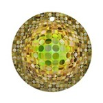 Optical Illusion Sphere - Yellow Ornament (Round)