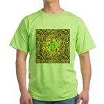 Optical Illusion Sphere - Yellow Green T-Shirt