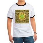 Optical Illusion Sphere - Yellow Ringer T