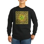 Optical Illusion Sphere - Long Sleeve Dark T-Shirt