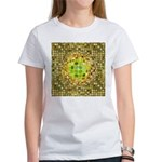 Optical Illusion Sphere - Yellow Women's T-Shirt