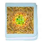 Optical Illusion Sphere - Yellow baby blanket