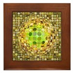 Optical Illusion Sphere - Yellow Framed Tile