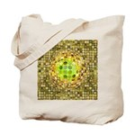 Optical Illusion Sphere - Yellow Tote Bag