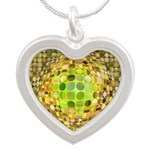 Optical Illusion Sphere - Ye Silver Heart Necklace