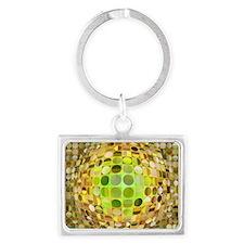 Optical Illusion Sphere - Yello Landscape Keychain