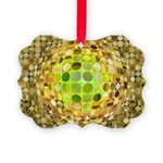 Optical Illusion Sphere - Yellow Picture Ornament