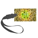 Optical Illusion Sphere - Yellow Large Luggage Tag
