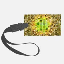 Optical Illusion Sphere - Yellow Luggage Tag