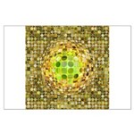 Optical Illusion Sphere - Yellow Large Poster