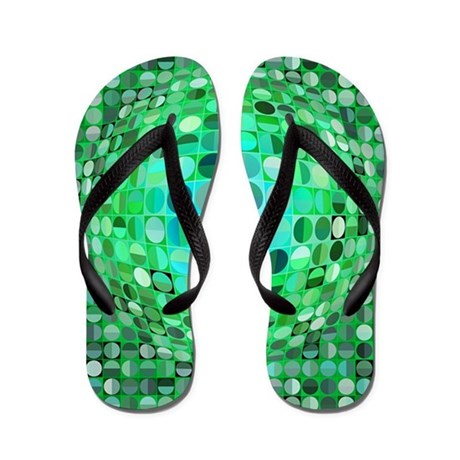 Optical Illusion Sphere - Green Flip Flops