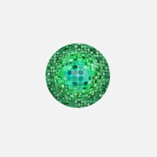 Optical Illusion Sphere - Green Mini Button