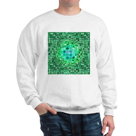 Optical Illusion Sphere - Green Sweatshirt