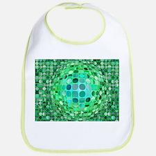 Optical Illusion Sphere - Green Bib