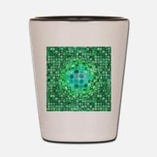 Optical Illusion Sphere - Green Shot Glass