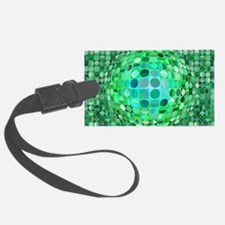 Optical Illusion Sphere - Green Luggage Tag