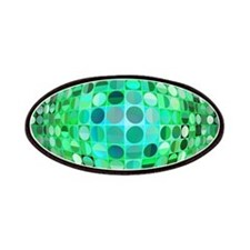 Optical Illusion Sphere - Green Patches