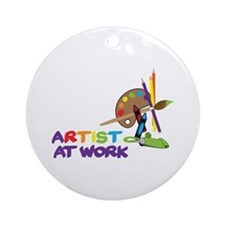 Artist At Work Ornament (Round)
