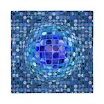 Optical Illusion Sphere - Blue Queen Duvet
