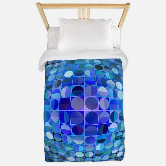 Optical Illusion Sphere - Blue Twin Duvet