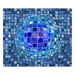Optical Illusion Sphere - Blue King Duvet