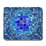 Optical Illusion Sphere - Blue Mousepad