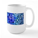 Optical Illusion Sphere - Blue Large Mug