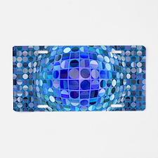 Optical Illusion Sphere - B Aluminum License Plate