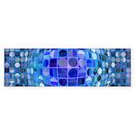 Optical Illusion Sphere - Blue Sticker (Bumper)