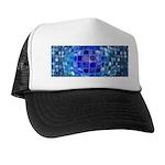 Optical Illusion Sphere - Blue Trucker Hat