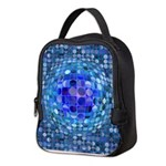 Optical Illusion Sphere - Blue Neoprene Lunch Bag