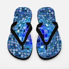 Optical Illusion Sphere - Blue Flip Flops