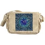 Optical Illusion Sphere - Blue Messenger Bag