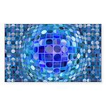 Optical Illusion Sphere - Blue Sticker (Rectangle)