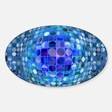 Optical Illusion Sphere - Blue Decal