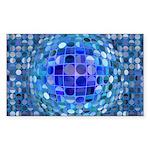 Optical Illusion Sphere Sticker (Rectangle 10 pk)