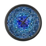 Optical Illusion Sphere - Blue Large Wall Clock