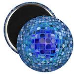 Optical Illusion Sphere - Blue Magnet