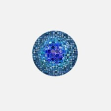 Optical Illusion Sphere - Blue Mini Button